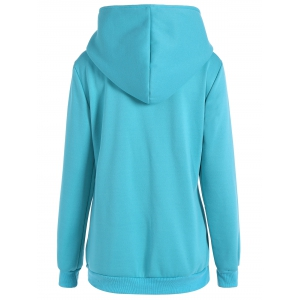 Pocket Casual Hoodie - LAKE BLUE S