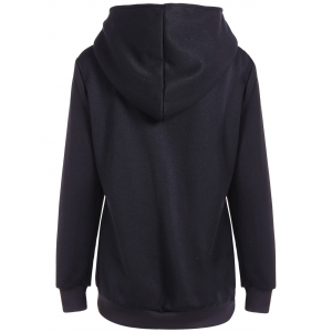 Pocket Casual Hoodie - BLACK 2XL