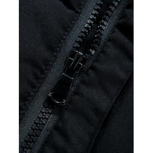 Hooded Covered Zip-Up Lengthen Padded Coat -