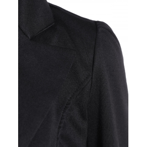 Asymmetric Lapel Single Breasted Blazer -