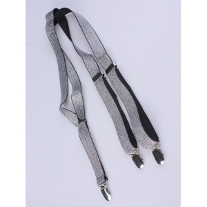 Silver Thread Adjustable Elastic Suspenders -