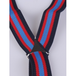 Color Block Stripe Elastic Suspenders -