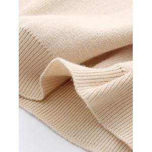 Stretchy Pullover Knitwear - BEIGE ONE SIZE