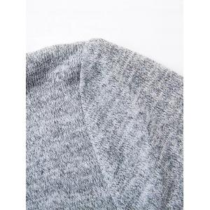 Back Slit Flare Sleeves Knitwear - GRAY L
