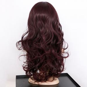 Centre Parting Long Shaggy Wavy Synthetic Wig -