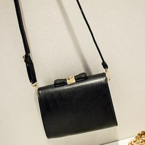 Rivet Square Shape Crossbody Bag - BLACK