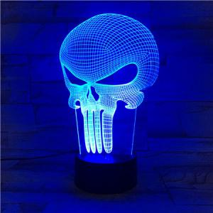 Halloween Mask 3D Visual Color Changing Atmosphere LED Night Light -