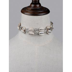 Faux Leather Shell Layered Choker -