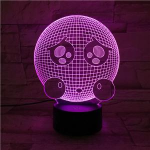 3D Visual Color Changing Room Atmosphere LED Night Light -