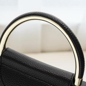 Magnetic Closure Metal Textured Leather Tote Bag -