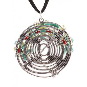 Spiral Chain Life Tree Pendant Necklace - SILVER