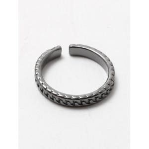 Polished Roman Cuff Ring - GUN METAL