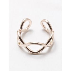Filigree Infinity Polished Cuff Ring - ROSE GOLD