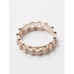Filigree Rivet Criss Cross Ring - CHAMPAGNE