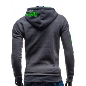 Zip-Up Hooded Graphic Hoodie Imprimé -