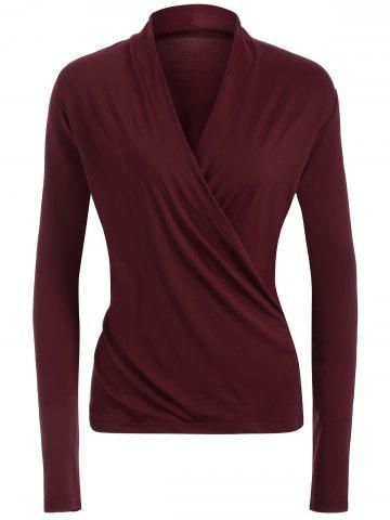 Buy Surplice Stretchy Slimming T-Shirt WINE RED 2XL
