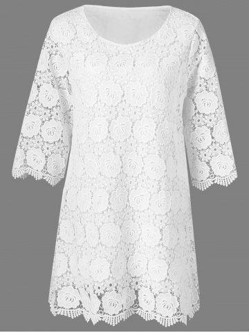 Buy Floral Overlay Lace Cocktail Dress