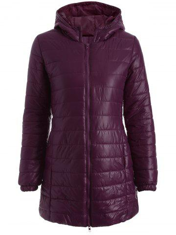 Affordable Hooded Zip-Up Padded Coat