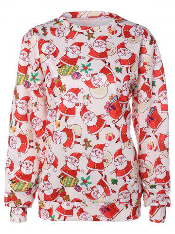 Buy 3D Santa Claus Print Christmas Sweatshirt
