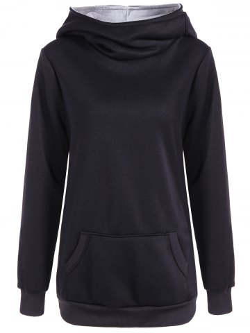 Best Pocket Casual Hoodie - 2XL BLACK Mobile