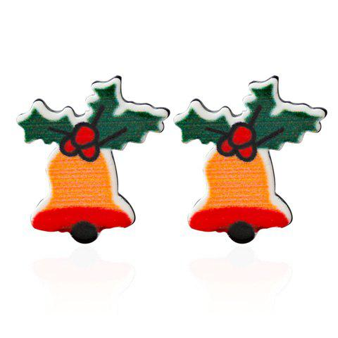 Fancy Christmas Bell Leaf Earrings GREEN