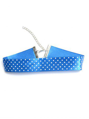 Latest Polka Dot Choker Necklace BLUE