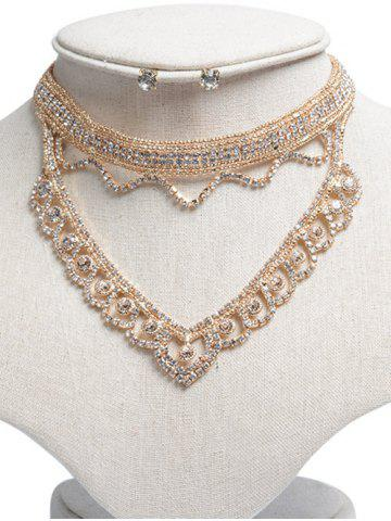 Strass Hollowed ensemble de bijoux