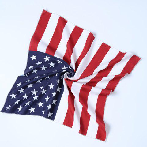 Online Casual Patriotic American Flag Square Bandana RED