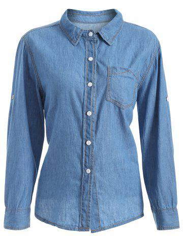Shop Plus Size Chambray Shirt with Pocket