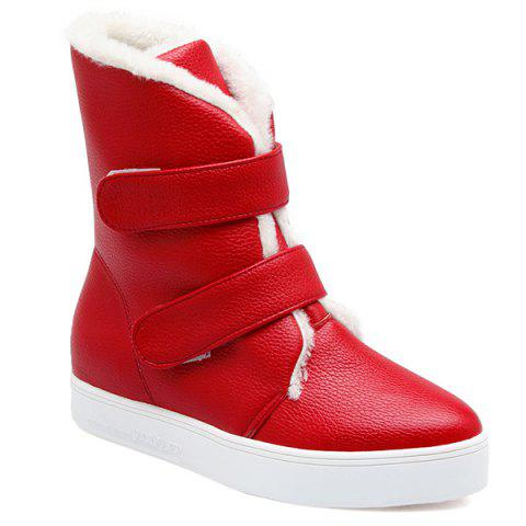 Shops Textured PU Leather Platform Short Boots