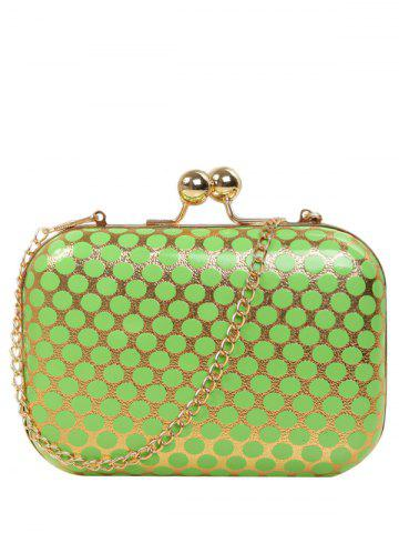Outfit Kiss Lock Polka Dot Metal Evening Bag GREEN