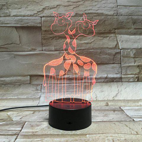 Chic 7Color Change Room Atmosphere Decorative 3D Visual LED Night Light