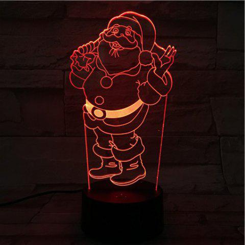Cheap Christmas Santa 3D Visual Colorful Atmosphere LED Night Light