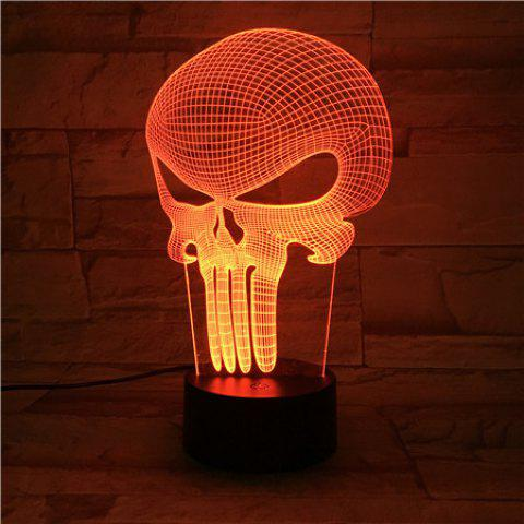 Outfit Halloween Mask 3D Visual Color Changing Atmosphere LED Night Light