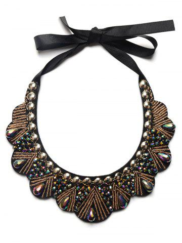 Fashion Faux Gem Water Drop Beads Necklace