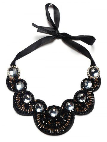 Outfits Alloy Rhinestone Faux Gem Beads Necklace