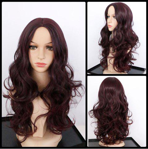Cheap Centre Parting Long Shaggy Wavy Synthetic Wig