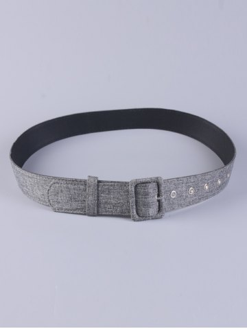 Best PU Leather Adjustable Pin Buckle Fabric Belt - GRAY  Mobile
