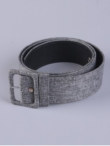 Outfits PU Leather Adjustable Pin Buckle Fabric Belt - GRAY  Mobile