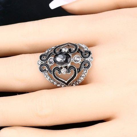 Unique Hollow Out Fake Crystal Ring
