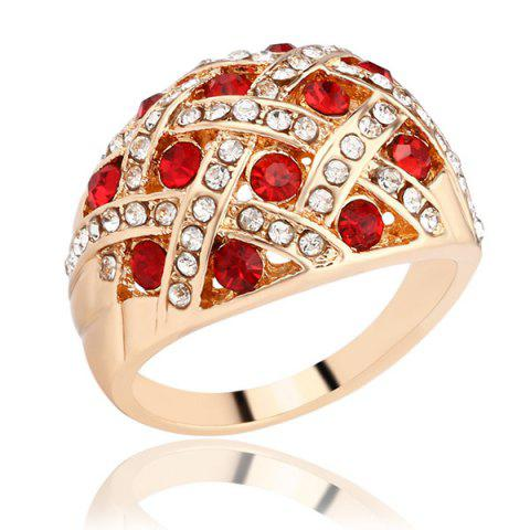 Fashion Woven Rhinestone Curved Finger Ring