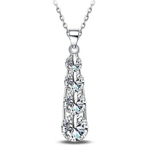 Shops Tiered Water Drop Rhinestone Necklace