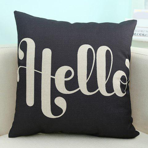 Fashion Wholesale Letter Printed Sofa Cushion Pillow Case - BLACK  Mobile
