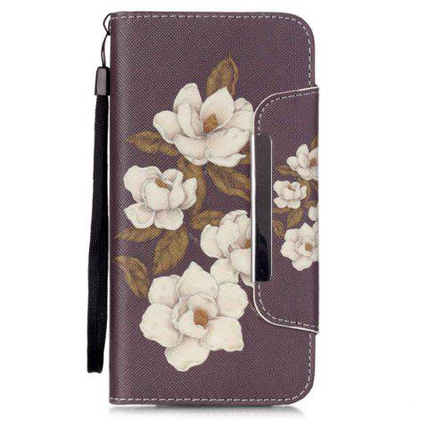 Fancy Floral PU Wallet Card Design Flip Stand Cover For iPhone 6S