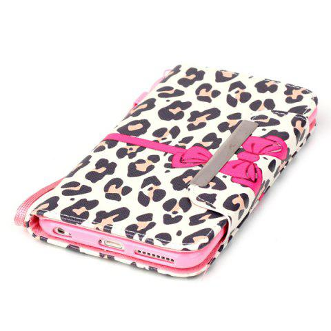 Affordable Smart Stand Leopard PU Wallet Card Slot Cover For iPhone 6S Plus - LEOPARD  Mobile