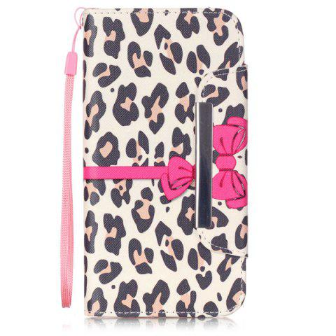 Buy Smart Stand Leopard PU Wallet Card Slot Cover For iPhone 6S Plus