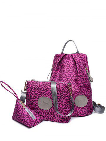 Hot Color Spliced Print Zippers Backpack