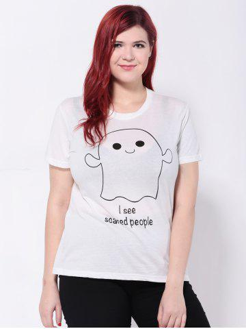 Store Short Sleeves Cartoon Letter Print T-Shirt