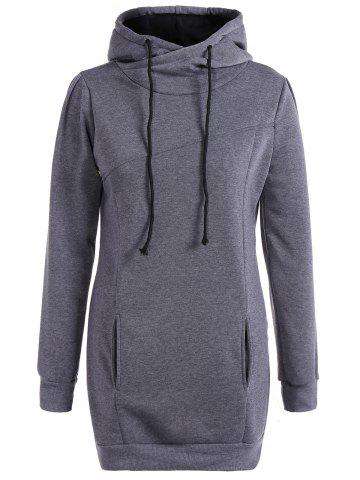 Affordable Long String Casual Long Hoodie