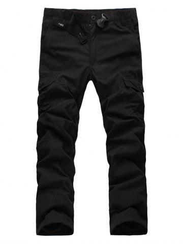 New Zipper Fly Straight Leg Plastic Buckle Thicken Cargo Pants